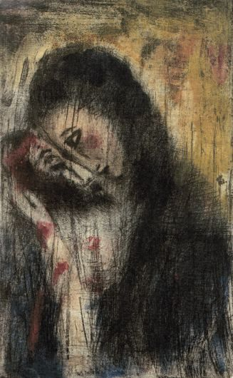 Pieta, suchá jehla s monotypem, 1949