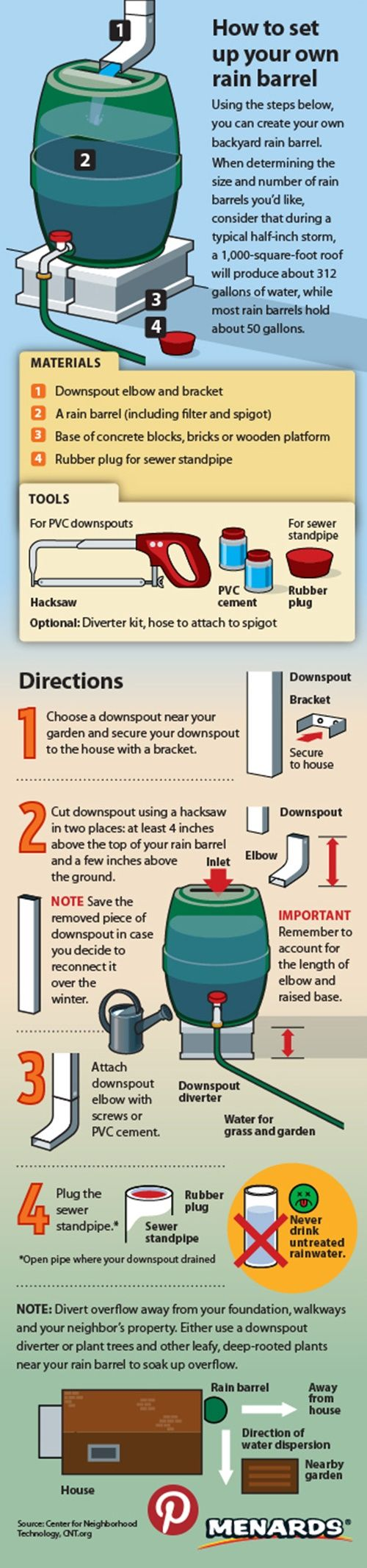 "Set Up Homesteading Rainwater Barrel Project Homesteading  - The Homestead Survival .Com     ""Please Share This Pin"""