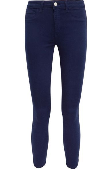 L'Agence - Margot Cropped High-rise Skinny Jeans - Navy - 28