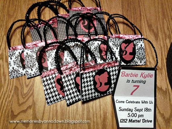 Barbie Purse Invitations by annadawn on Etsy