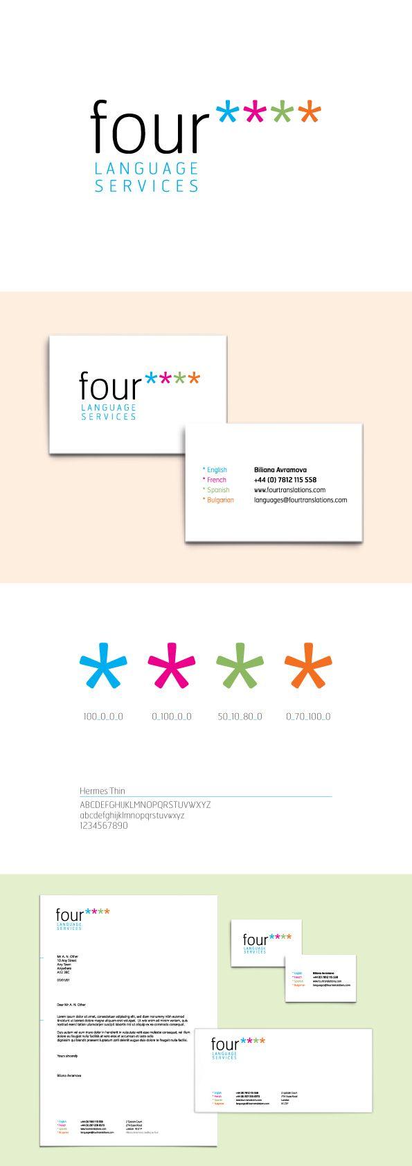 Logo Design, Translation Company, Name Generation, multiple languages. Designed by Paper Aeroplane Creative. www.paperaeroplane.co.uk