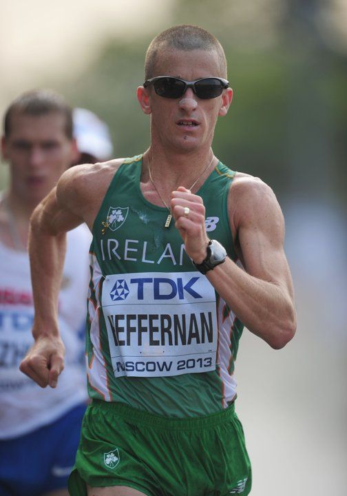 Ireland's Robert Heffernan on his way to Gold in the Men's 50km Walk during day five of the 2013 IAAF World Athletics Championships at the Luzhniki Stadium in Moscow, Russia.