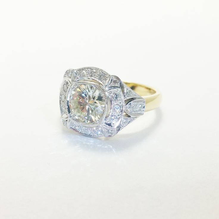 Art Deco style diamond ring custom made for a customer #artdecojewellery #diamond #ring