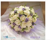 2015 bonito do casamento buquê de noiva da dama de honra Flower Wedding Bouquet flor Artificial Rose Bouquets