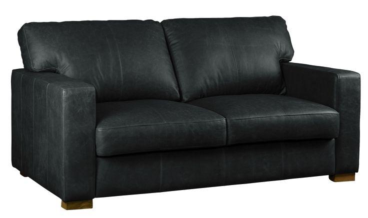 Carlisle leather sofa in vintage black