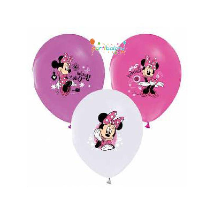 Minnie Mouse Balon (20 Adet) Mini Mouse Balon Ürün Özellikleri aşağıdaki gibidir;  Ürün Paketinde 20 Adet Minnie Mouse Baskılı Balon bulunur. Minnie Mouse balonlar lisanslı olup, kaliteli üründür. Mini Mouse temalı balonlar karışık renkte gönderilmektedir. Doğum Günü Süsleme malzemeleri arasından en çok tercih edilen ürünlerden birisidir.