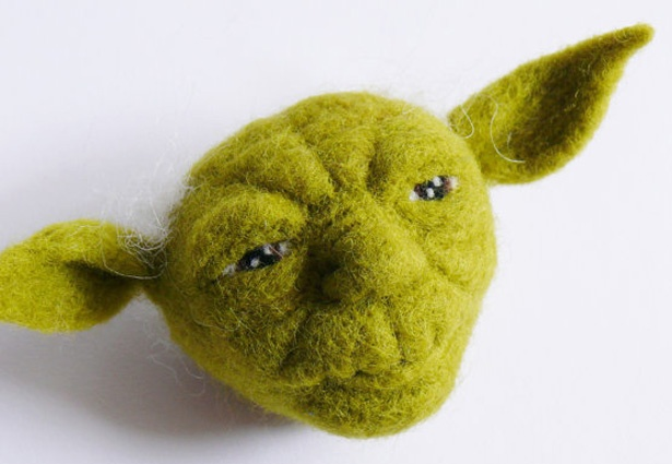 This appeals to both the fiber artist and star wars geek in me.