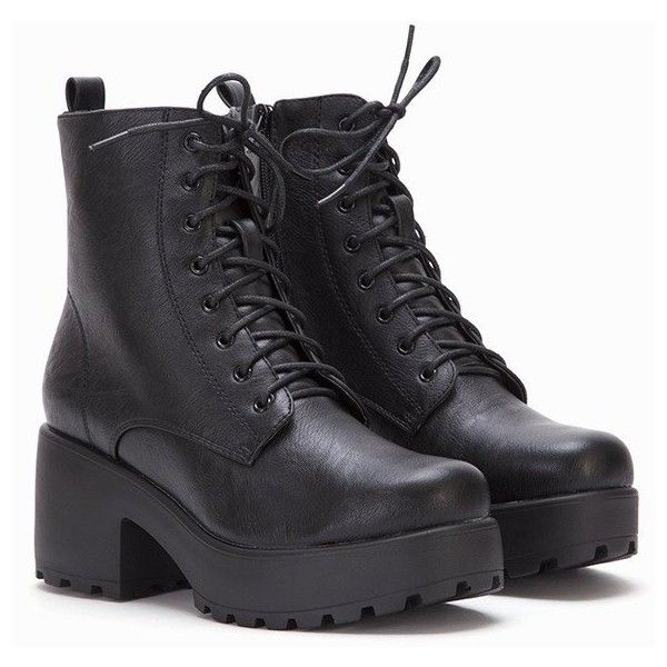 Cole Lace Up Ankle Boots (975 MXN) ❤ liked on Polyvore featuring shoes, boots, ankle booties, chunky platform booties, lace up boots, lace up high heel boots, lace-up bootie and chunky lace up booties
