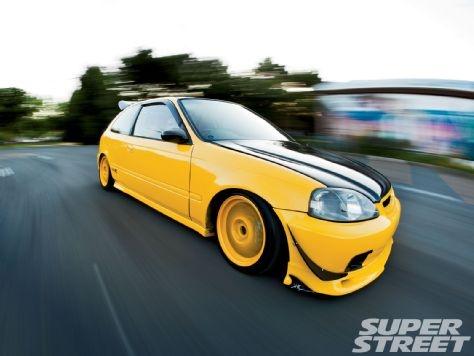 1999 Honda Civic Type R - K20 Engine Swap #yellow