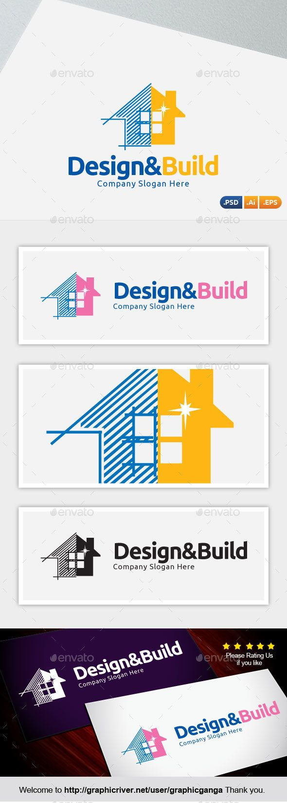 Design & Build - Abstract Logo Templates - Logo Inspiration