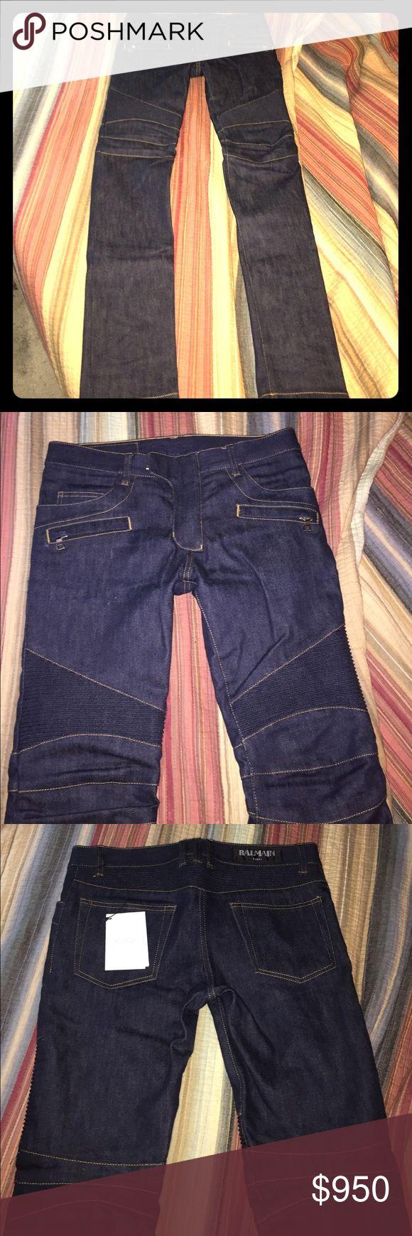 Balmain biker jeans men balmain biker jeans. Brand new size 30 waste Balmain Jeans