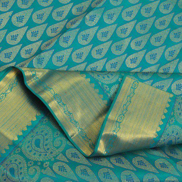 blue leaf kanjivaram