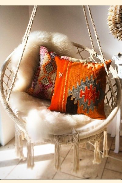 Macrame swing chair.
