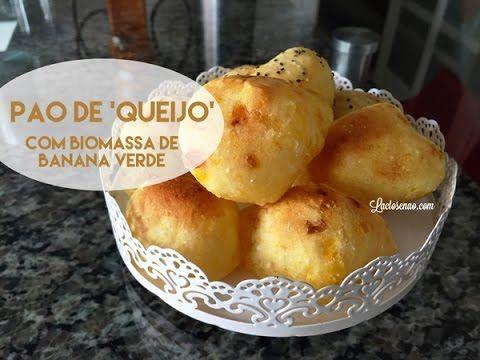Pão de queijo sem lactose com biomassa de banana verde - Lactose Não por Flavia Machioni
