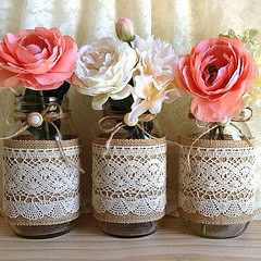 #etsy  #wedding #burlap #lace #decoration #handmade #vintage https://www.etsy.com/listing/158608368/burlap-and-lace-covered-3-mason-jar (Bien Bijou) Tags: square squareformat iphoneography instagramapp uploaded:by=instagram vision:outdoor=0867