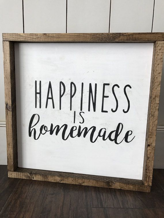 Happiness is Homemade sign by HunnyDoDesigns on Etsy