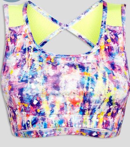 Multi-coloured sports bra | Matalan