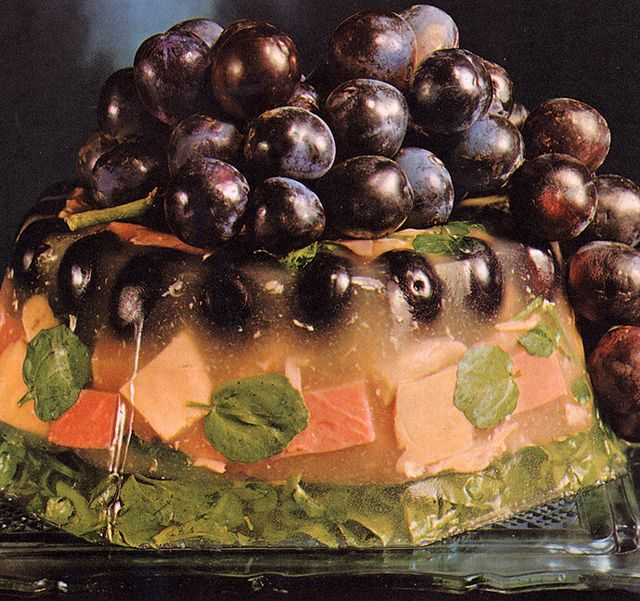 ~ Fish jello and....could be olives, could be grapes....could be an alien life…
