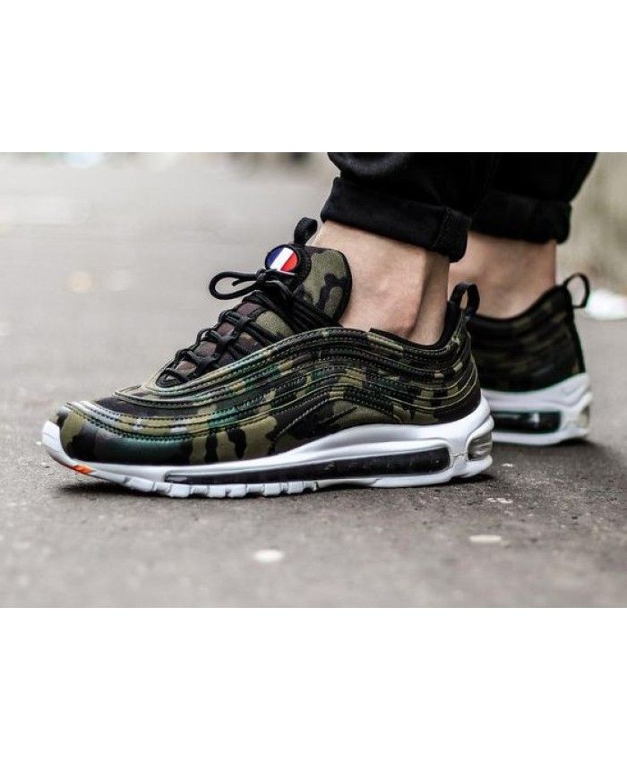 dba07df6c62 Nike Air Max 97 Premium Qs Camouflage Color Shoes