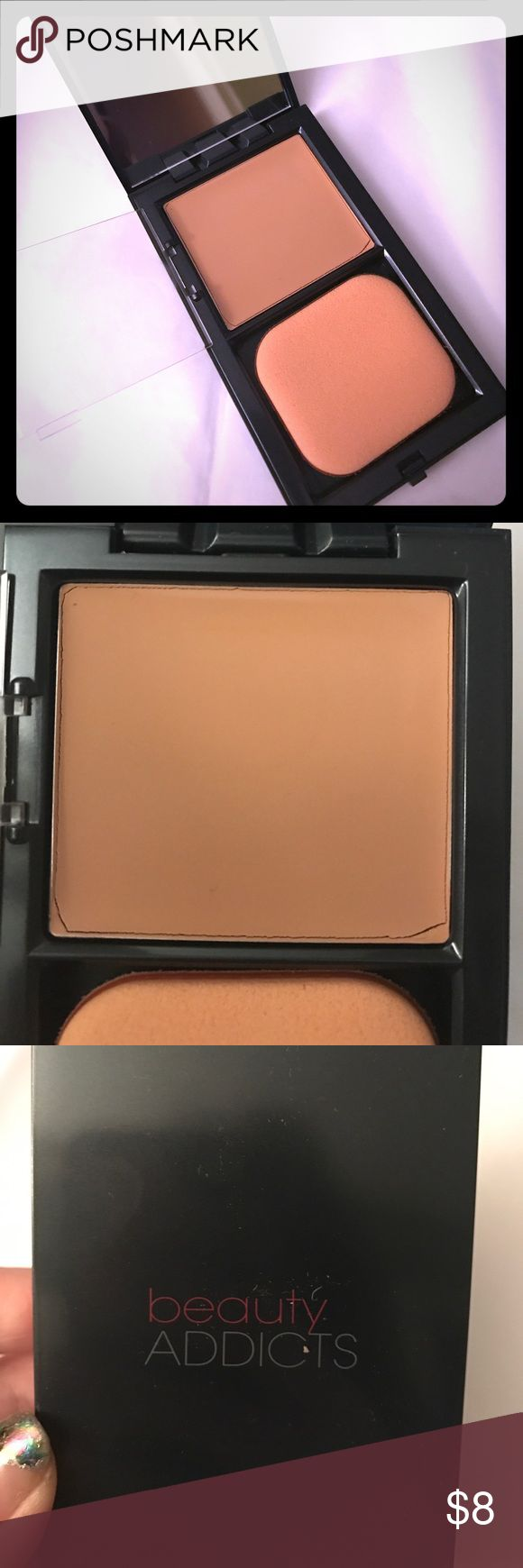 Cream to Powder Foundation Shade 05: full coverage foundation with a satin-matte finish. Contains green tea, vitamin e, dermaxyl to stimulate collagen production and smooth out skin imperfections and advanced microsphere technology to diminish fine lines and wrinkles beauty ADDICTS Makeup Foundation