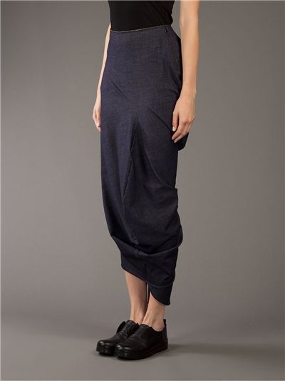 COMME DES GARÇONS - Draped Skirt __ $403, avail in size Sm. & Med.