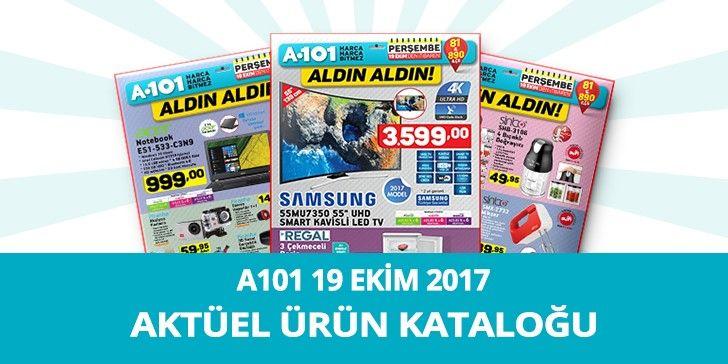 A101 19 Ekim 2017 Aktüel Ürünler Kataloğu   A101 19 Ekimtarihin de satışa sunulacak olan aktüel ürün kataloğundaki muhteşem ürünler ise; Seg 7100 T Çamaşır Makinesi 599,00 TL, Samsung Uhd Smart Kavisli Led TV 3.599,00 TL, Acer Notebook 999,00 TL, Regal 3 Çekmeceli Derin Dondurucu 349,00 TL, Kiwi 2'1 Arada Cyclone Elektrikli Süpürge...  https://aktuelurunlermarket.com/a101-19-ekim-2017-aktuel-urunler-katalogu/