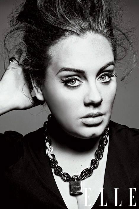 LOVE Adele! she is beautiful.there is not reason for her to be photoshopped.