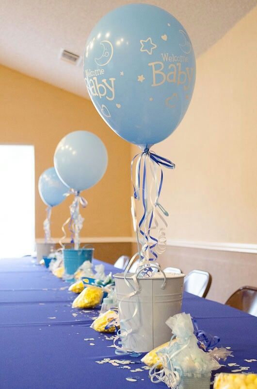 Best 25 baby boy centerpieces ideas on pinterest boy for Balloon decoration ideas for baby shower