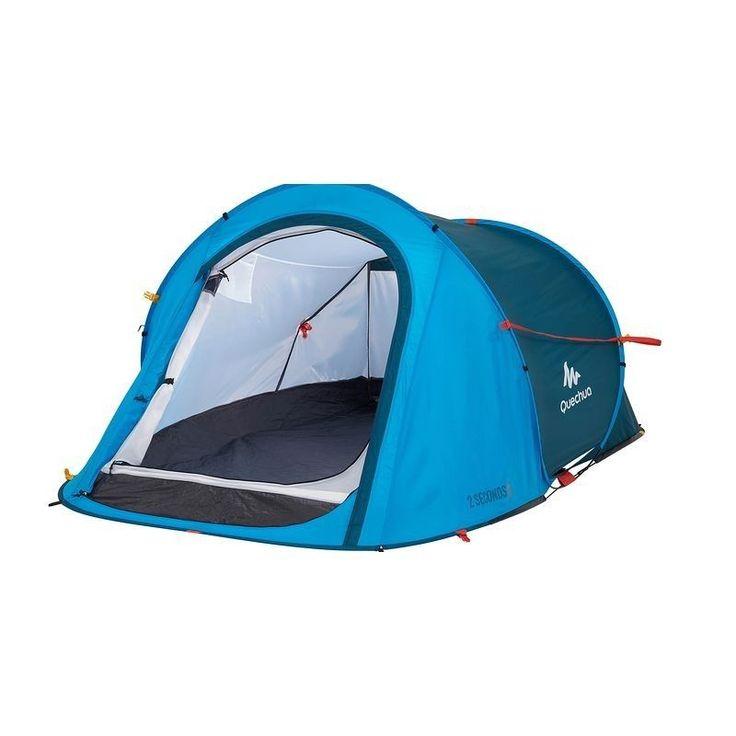 QUECHUA 2 Seconds Easy Pop-up Wurfzelt 2 Personen Camping Strand Festival Blau