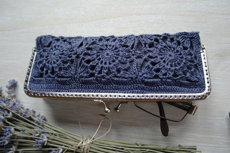 Crochet coin purse, glasses case, sunglasses case by ZoZulkaart on Etsy