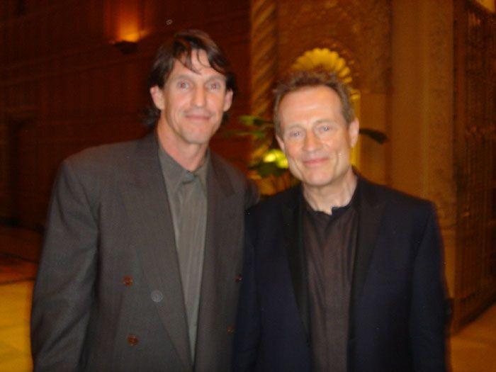 John Paul Jones,bass player from Led Zeppelin-With Michael Dunn.