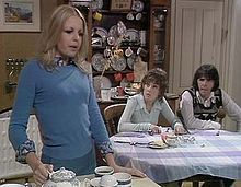 Man About the House. British sitcom starring: Richard O'sullivan, Paula Wilcox and Sally Thomsett. The series ran from 1973 to 1976 and drew an audience of many millions. The show spawned extremely successful spin offs, 'Robin's Nest' with Richard O'Sullivan and 'George and Mildred' with Brian Murphy and the incomparable Yootha Joyce.