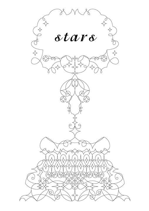 """花形装飾活字を愛でる - """"stars"""""""