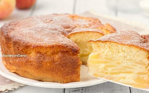Torta magica alle mele soffice cremosa e profumatissima senza burro