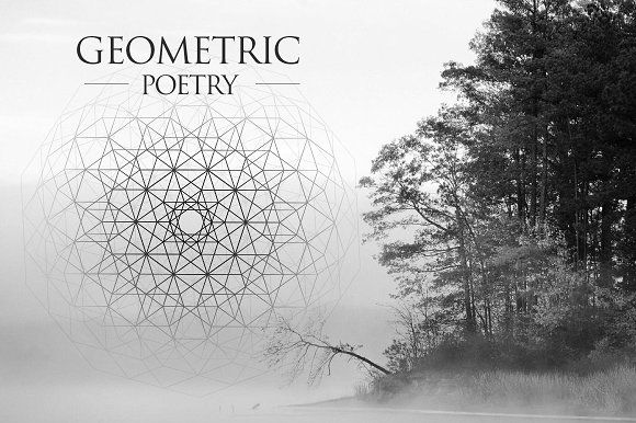 Geometric Poetry by DesignSomething on @creativemarket