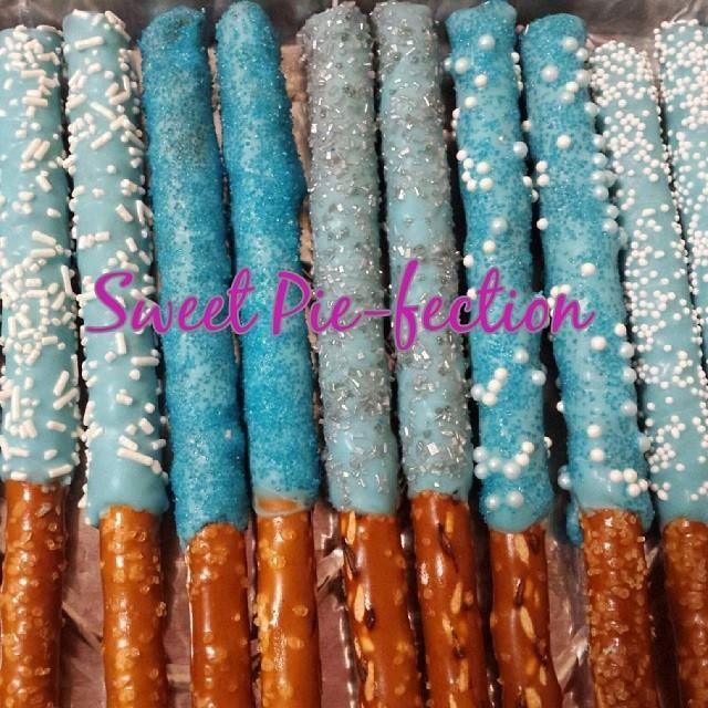 Chocolate Covered Pretzel Rods, Disney Frozen, Frozen, Thomas the Train, Spiderman, Little Mermaid, Under the Sea - 1 dozen by SweetPiefection on Etsy
