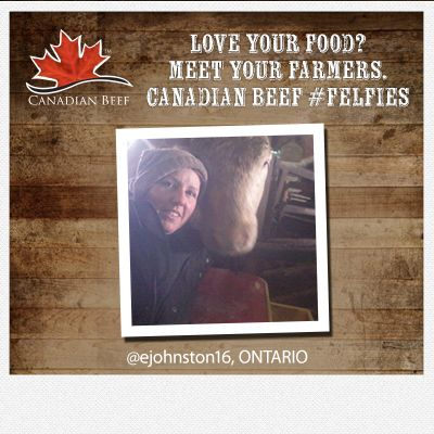 Love your food? Meet your #CanadianBeef #Farmers  #Felfie #Ontario cc @Emily Johnston