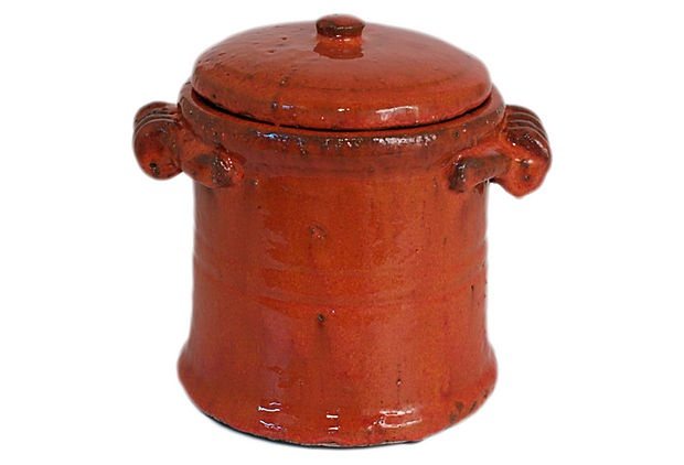 """8"""" Covered Terracotta Pot on OneKingsLane.comTerracotta Can, Earthy Elegant, Kitchens Ware, Warm Hues, Structures Ideas, Covers Terracotta, Pots Add, Nature Texture"""