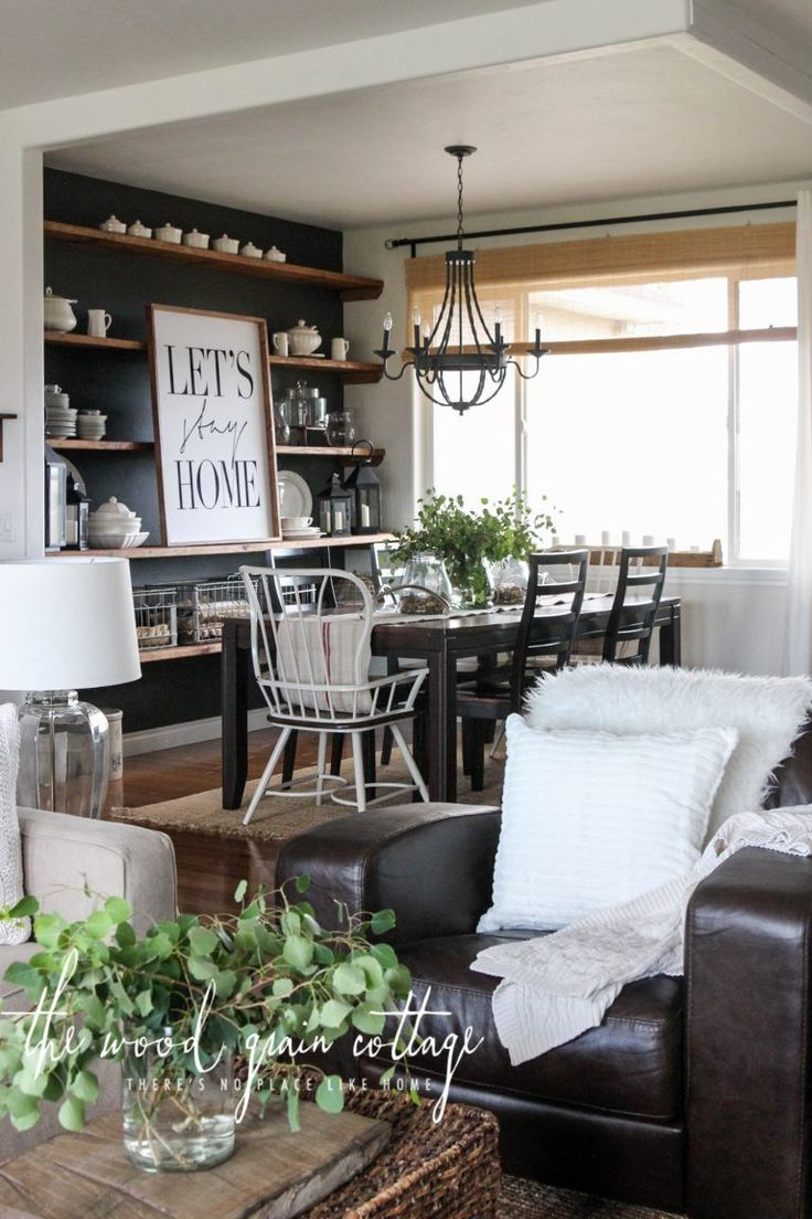 A Big Living Room Refresh by The Wood Grain Cottage