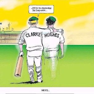 Clarke and Hughes: the big brother and little brother of Australian cricket. | Michael Clarke's Instagram Tribute For Phillip Hughes Is A Real Tearjerker