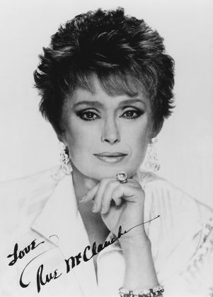Rue Mcclanahan-(February 21, 1934 – June 3, 2010) best known for her roles on television as Vivian Harmon on Maude, Fran Crowley on Mama's Family, and Blanche Devereaux on The Golden Girls, for which she won an Emmy Award for Outstanding Lead Actress in 1987.