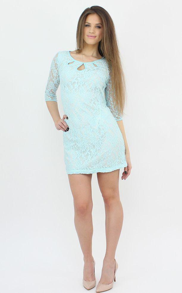 Long-Sleeve Blue Dress for a feminine and modern look..:)  #famevogue #style #lace #dress #fashion #shopping