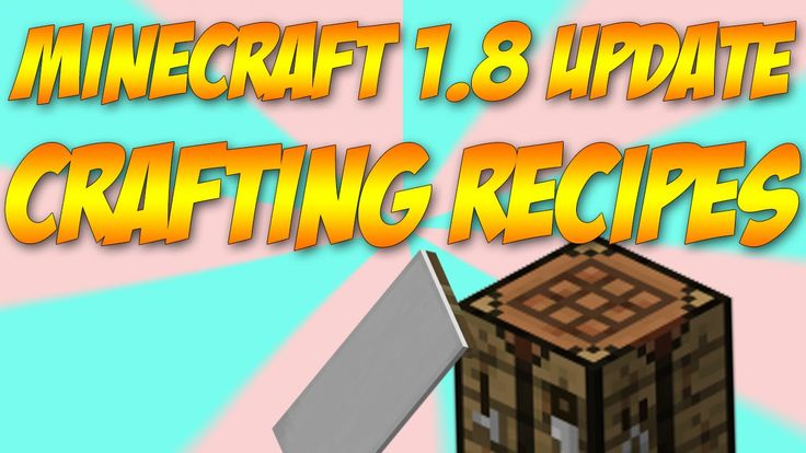 Minecraft 1.8 Update Review Recipes