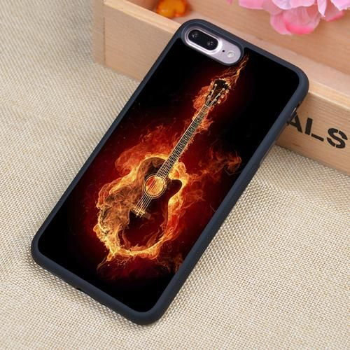 Electric guitar music Printed Soft Rubber Mobile Phone Cases For iPhone