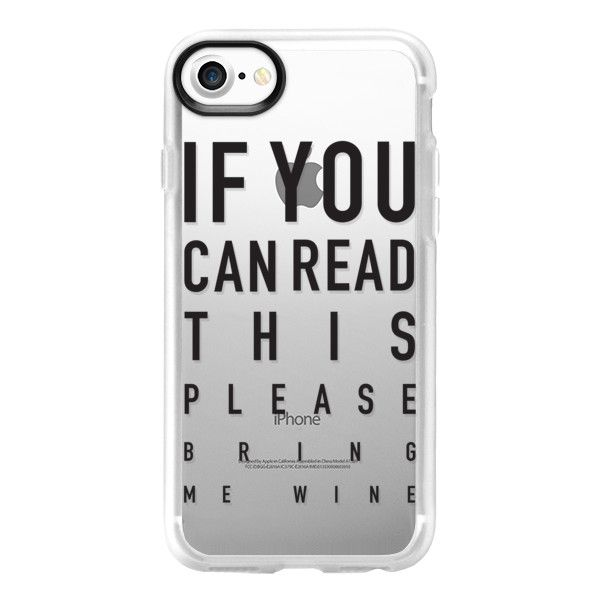 Eye test - black - iPhone 7 Case And Cover ($40) ❤ liked on Polyvore featuring accessories, tech accessories, iphone case, iphone cover case, apple iphone case, iphone cases and clear iphone case