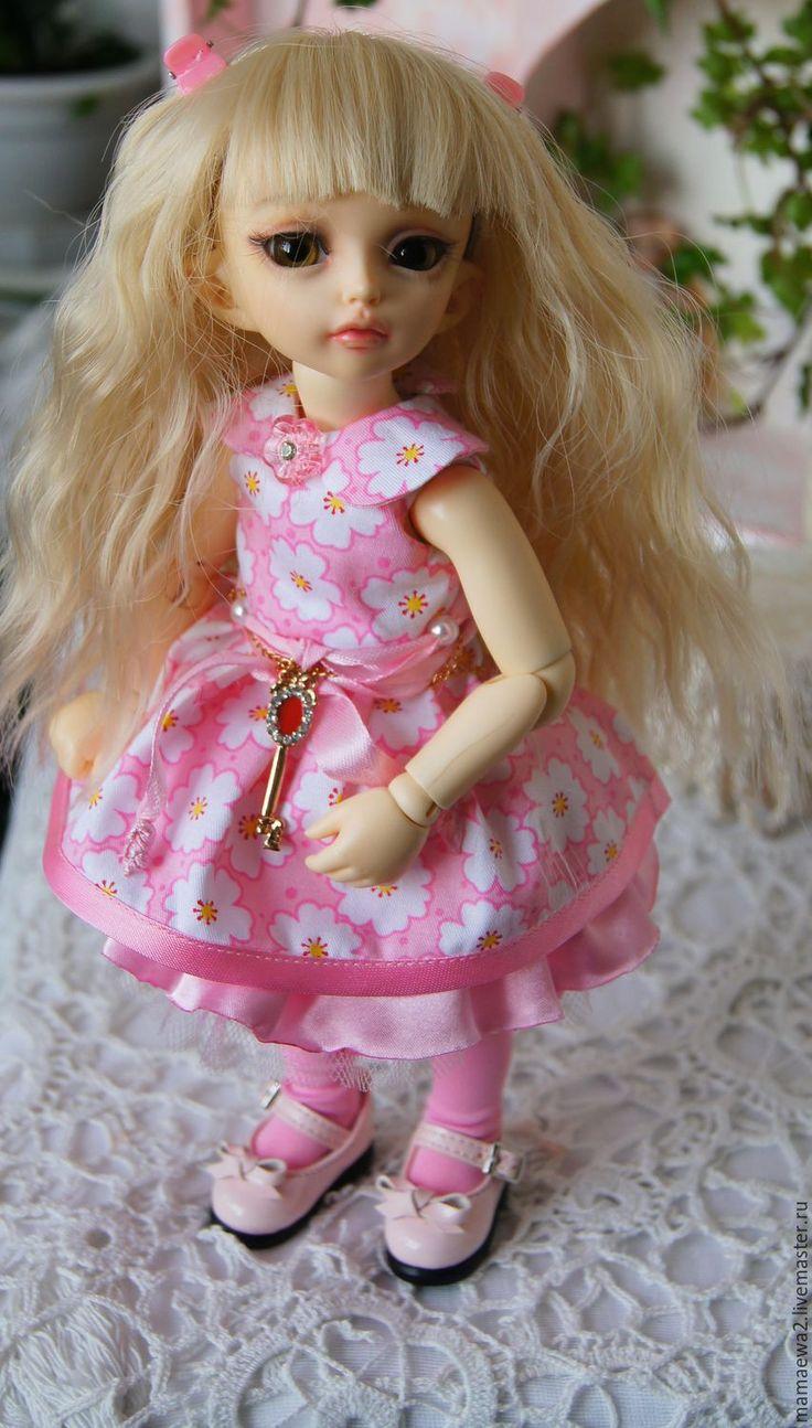 Купить В розовом свете - платье, красивое платье, кукла, одежда для кукол, bjd doll