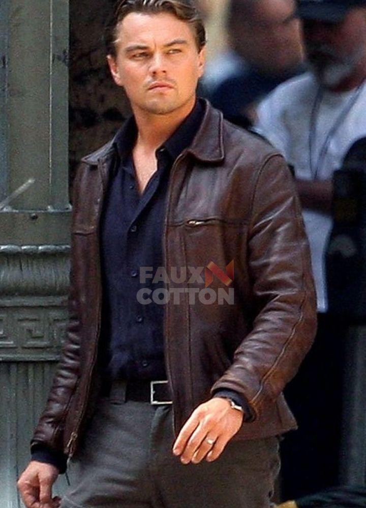 Leonardo Dicaprio Brown Leather Jacket in 2020   Lederjacke