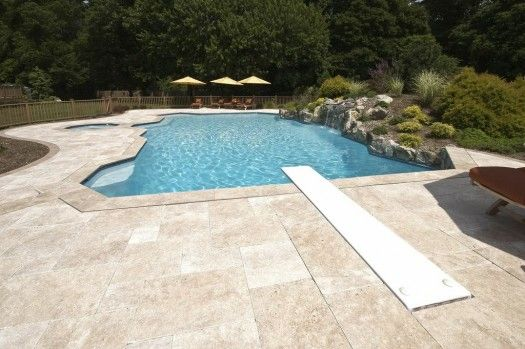 Pool surrounds in our area of the northeast long island for Swimming pool surrounds design