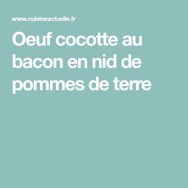 Oeuf cocotte au bacon en nid de pommes de terre