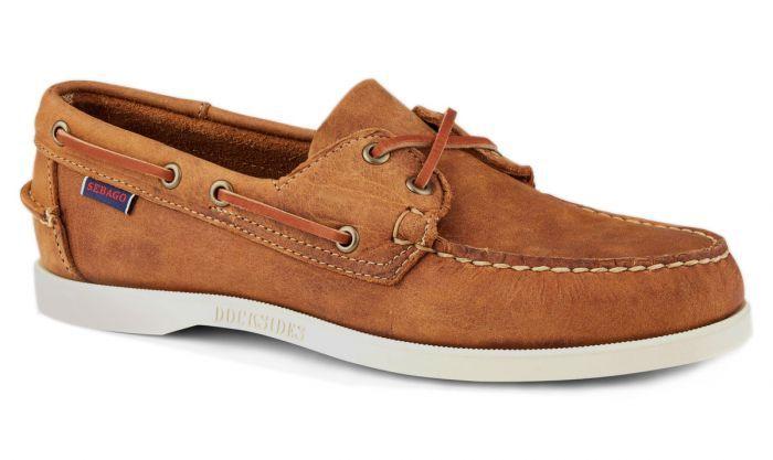 36459ef2cc Sebago Brown Tan Dockside Portland Boat Shoe | footwear in 2019 ...
